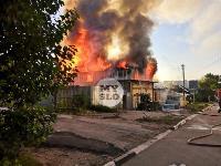 На ул. Баженова в Туле крупный пожар уничтожил жилой дом, Фото: 3