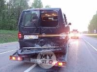 На трассе М2 в Туле «Ситроен» жестко «догнал» «Фольцваген», Фото: 9