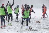 «Арсенал» готовится на снежном поле к игре против «Тосно», Фото: 7