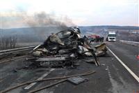 Причиной массового ДТП под Тулой стал дым с горящих полей, Фото: 1