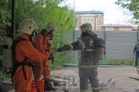 В Туле сотрудники МЧС эвакуировали госпитали госпиталь для больных коронавирусом, Фото: 51