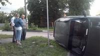 В Туле в результате аварии перевернулся автомобиль, Фото: 5