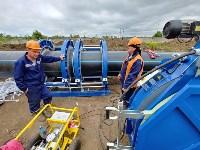 В Туле меняют аварийный участок трубы, из-за которого отключали воду в Пролетарском округе, Фото: 19