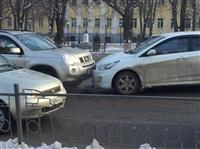 ДТП на пересечении улицы Пушкинская и проспекта Ленина. 20 января 2014, Фото: 2