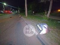 Крупное ДТП на ул. Металлургов в Туле: Nissan снес столб, пассажирку вышвырнуло из машины, Фото: 18