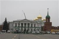 Сборка новогодней елки на площади Ленина, Фото: 1
