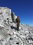 Руководитель полевых поисковых работ Денис Садовников исследует австро-венгерские  укрепления на высоте 3250 м., Фото: 63