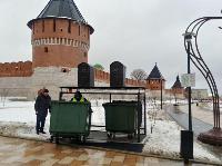 На Казанской набережной впервые в Туле поставили подземную мусорную площадку, Фото: 9