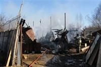 Пожар в цехе производства гробов на Веневском шоссе в Туле, Фото: 1
