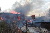 На Калужском шоссе загорелся жилой дом, Фото: 13
