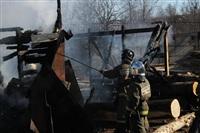 Пожар в цехе производства гробов на Веневском шоссе в Туле, Фото: 2