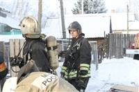Пожар в жилом бараке, Щекино. 23 января 2014, Фото: 23