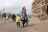 Освящение креста купола Свято-Казанского храма, Фото: 7