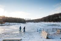 Вырубка купели в Центральном парке. 16.01.2015, Фото: 5