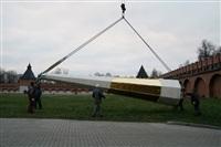 Утром 15 ноября в Тулу привезли шпиль для колокольни Успенского собора, Фото: 20