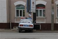В Туле машина ДПС протаранила столб, Фото: 3