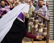 Митрополит Алексий освятил колокола храма в поселке Рождественский, Фото: 11