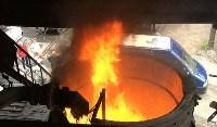 Сотрудники УФСБ сожгли в огромной печи 750 грамм наркотиков, Фото: 1