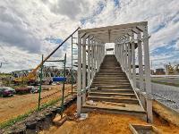 Установка надземного перехода на Восточном обводе, Фото: 8