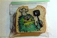 Рисунки на сэндвичах, Фото: 7