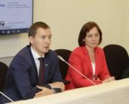 Денис Тихонов и Татьяна Лапаева на встрече с тульскими предпринимателями, Фото: 6