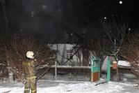 В пос. Менделеевский сгорел частный дом., Фото: 17