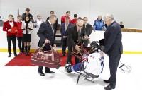 Председатель правительства Тульской области Юрий Андрианов вручил санки следж-хоккеистам региона, Фото: 6