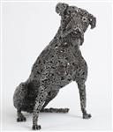 Скульптуры собак из велосипедных цепей, Фото: 2