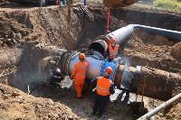 Как ведется монтаж водовода, питающего водой Пролетарский округ Тулы. Фото, Фото: 13