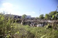 Незаконную свалку на берегу Тулицы спрятали под грудой земли, Фото: 9