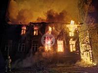 Крупный ночной пожар в Туле, Фото: 2