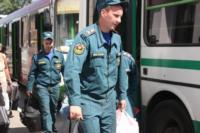 Сотрудники МЧС встретили беженцев на Московском вокзале 28 июля 2014 год, Фото: 1