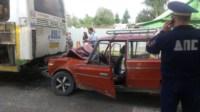 На ул. Циолковского «шестёрка» протаранила автобус №1, Фото: 2