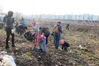 Генеральную уборку в Туле на Пролетарской набережной провели работники КБП, Фото: 1