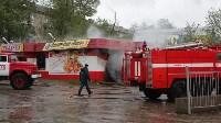 В Ясногорске сгорел продуктовый магазин. 16 мая 2015, Фото: 1