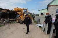 В Плеханово начали сносить дома в цыганском таборе, Фото: 85