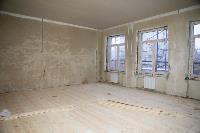 Дмитрий Миляев проверил, как идет ремонт вечерней школы на ул. Зорге, Фото: 9