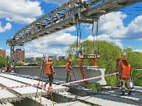 Восточный обвод: Строительство моста через Упу, Фото: 13