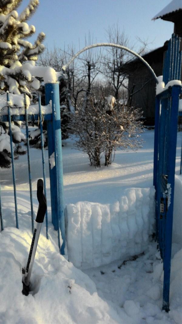 Зимняя забава- приехать на дачу и вот