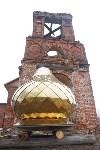Храм в селе Ефремовского района обрел купол и крест, Фото: 2