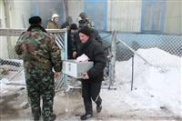 Пожар в жилом бараке, Щекино. 23 января 2014, Фото: 24