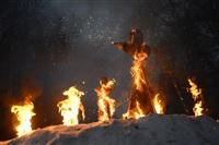В ЦПКиО сожгли чучело зимы, Фото: 26