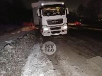 На обочине дороги Тула-Новомосковск в районе Петелино застряла фура, Фото: 3