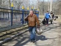 Субботник в Комсомольском парке с Владимиром Груздевым, 11.04.2014, Фото: 24