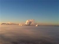 Необычные клубы дыма над заводом. Косая Гора, 21 января 2014, Фото: 7