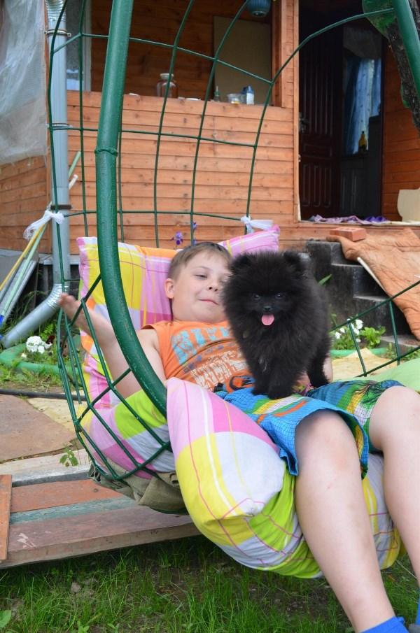 Мы с приятелем вдвоём ,очень весело живём и играем и гуляем и на даче отдыхаем.