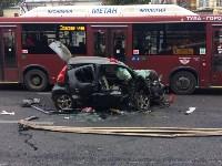 Массовое ДТП в центре Тулы: четверо пострадали, Фото: 2