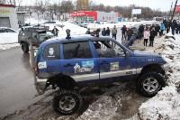 В Туле опрокинувшийся в кювет BMW вытаскивали три джипа, Фото: 29