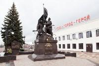 На Московском вокзале установили памятник защитникам Тулы, Фото: 13