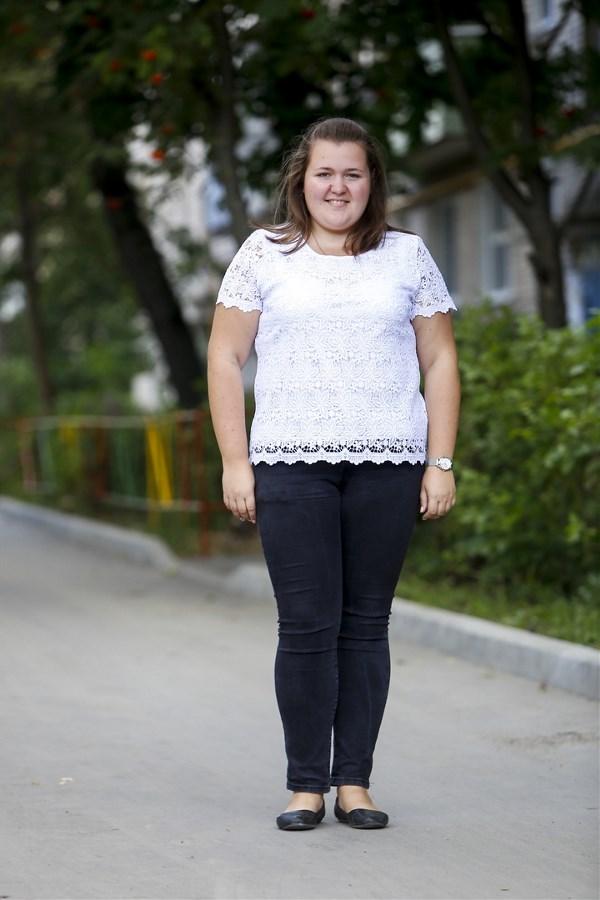 Юлия Галактионова, 23 года. Рост 170 см, вес 99 кг.